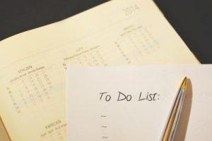 calendar checklist to-do routine